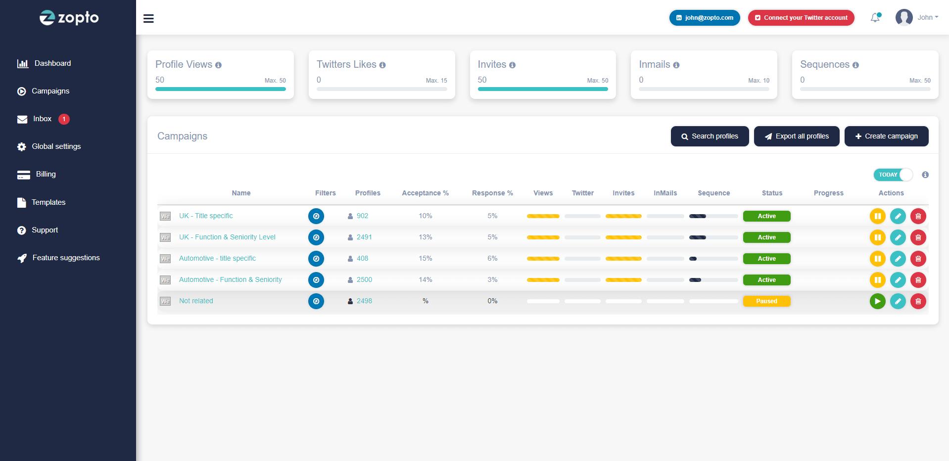 Zopto-interface